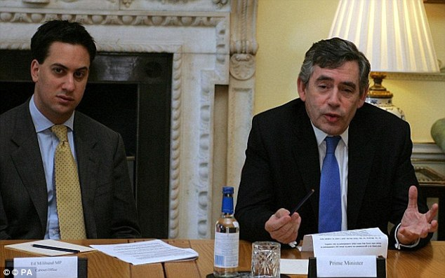 Mr Miliband became a key member of Gordon Brown's government after becoming an MP in 2005