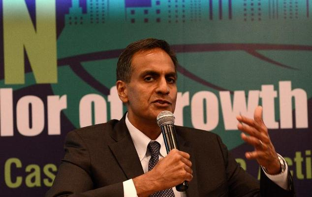 US Ambassador to India Richard R. Verma speaks during a conference in New Delhi on April 20, 2015