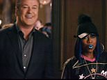"""7 February 2016 - Los Angeles - USA  **** STRICTLY NOT AVAILABLE FOR USA ***  Alec Baldwin, Missy Elliott and Dan Marino star in Amazon Echo Super Bowl 50 advert. The Seattle company aired its first-ever Super Bowl ad that touted the Amazon Echo smart speaker and the built-in Alexa voice-enabled virtual assistant. The 30-second spot features actor Baldwin hosting a party with fellow celebrities like NFL Hall of Fame quarterback Dan Marino, Grammy award-winning rapper Missy Elliot, and actor Jason Schwartzman. Baldwin uses his voice-controlled Echo to quickly stop the music, turn on the lights, and ask Alexa to answer questions like: 'How many championships has Dan Marino won?î The answer is zero. Marino quickly hits back at Baldwin and asks Alexa: ìHow many Oscars awards has Baldwin won?"""" That answer is also zero. ìWell played, Marino,î Baldwin tells Marino. The spot ends with Missy Elliot asking Alexa to 'release' her never-before heard song Pep Rally and start an impromptu dance par"""