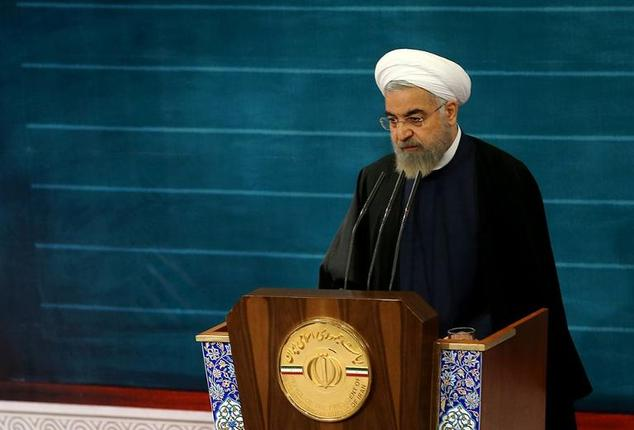 Iranian President Rouhani has blasted Western arms sales to Sunni Gulf powers