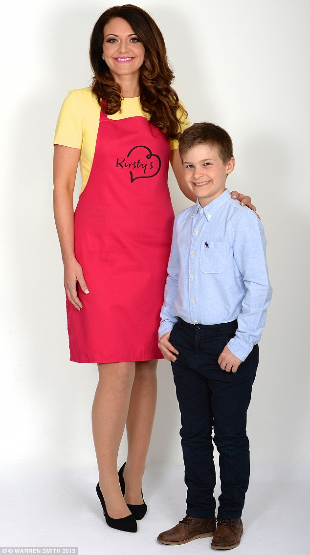 Single mother Kirsty's skills were not honed by studying in business school but by working as a barmaid and a care assistant (pictured here with her son, Jacob)