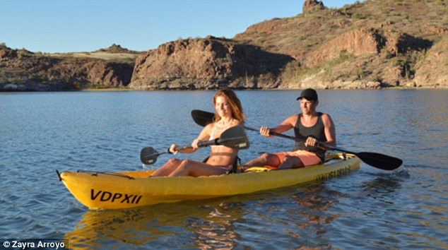 More paddling: The TV staple was with her beau of 17 years, producer-director Keven Undergaro, at the resort where the couple had a go at kayaking