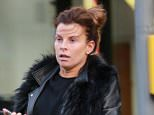 WAG COLEEN ROONEY SPOTTED FOR TE FIRST TIME AFTER GIVING BIRTH TO HER THIRD CHILD KIT. COLLEN WAS RUNNING ERRANDS IN ALDERNEY EDGE CHESHIRE