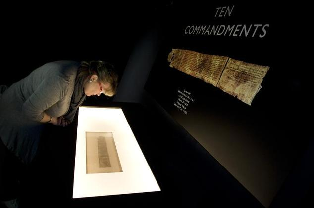 The world''s oldest parchment manuscript of the Ten Commandments, was one of 870 scrolls discovered between 1947 and 1956 in the Qumran caves above the Dead Sea