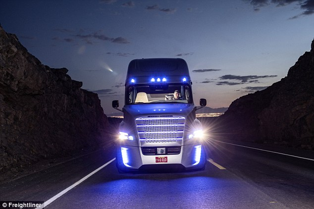 Future tech: The truck will be able to steer, accelerate and react to highway conditions with no help from humans