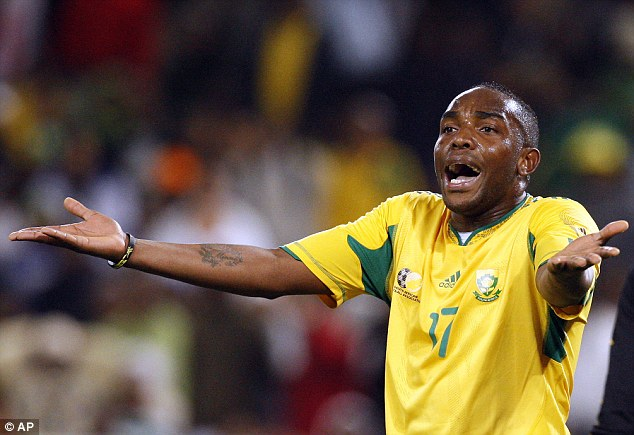 The striker is South Africa's all-time top international goalscorer and is recognised wherever he goes