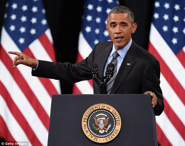 FERTILE GROUND: Obama was at another Nevada high school in November to promote his immigration policies, which Republicans say stray too close to an amnesty for border-crossers