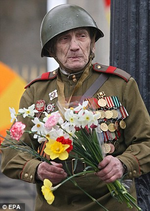 A WWII veteran participates in celebrations of Victory Day in Gorky Park in 2007