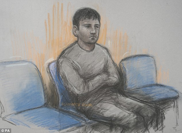 Westminster Magistrates Court today heard Sarao, pictured in a court sketch from a previous hearing, had no hope of raising the £5 million bail surety