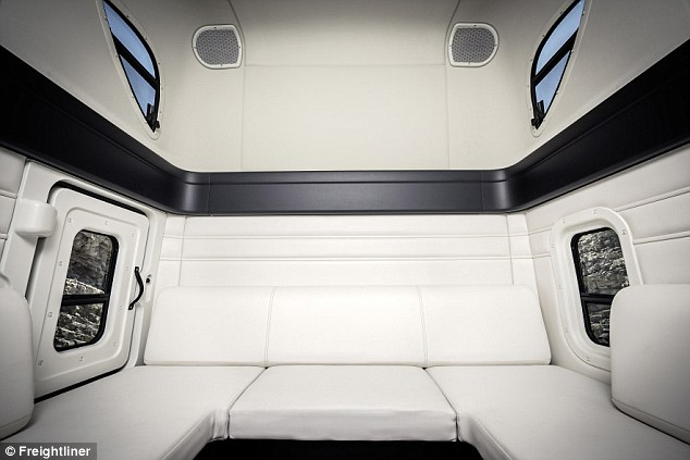 The real back seat: This image shows the back side of the cab, where drivers will be able to spend more time