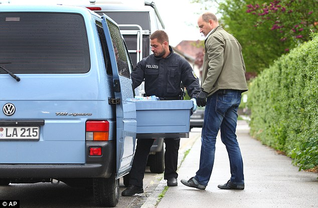 Evidence: The suspects were held during raids by some 250 investigators on homes in Saxony and four other states, the federal prosecutor's office said in a statement