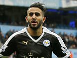 """Football - Manchester City v Leicester City - Barclays Premier League - Etihad Stadium - 6/2/16.. Leicester City's Riyad Mahrez celebrates scoring their second goal.. Action Images via Reuters / Jason Cairnduff.. Livepic.. EDITORIAL USE ONLY. No use with unauthorized audio, video, data, fixture lists, club/league logos or """"live"""" services. Online in-match use limited to 45 images, no video emulation. No use in betting, games or single club/league/player publications.  Please contact your account representative for further details."""