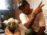 """lewishamilton Hanging with the ORIGINAL Yoda in George Lucas' office. """"A Jedi never holds on"""" words from THE great George Lucas #legend #inspiration #jedi #icon"""