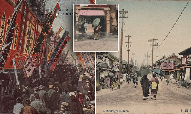 Japan's 100-year-old postcards reveal colourful tourist attractions and cities