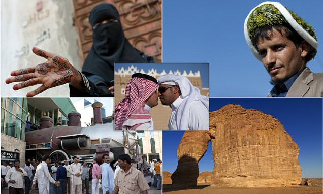 Life in Saudi Arabia from nose-kissing to men who wearing flowers on their heads