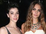 Musician Annie Clark and model Cara Delevigne attend the De Grisogono party during the 68th annual Cannes Film Festival on May 19, 2015 in Cap d'Antibes, France.    CAP D'ANTIBES, FRANCE - MAY 19: (Photo by Gisela Schober/Getty Images)
