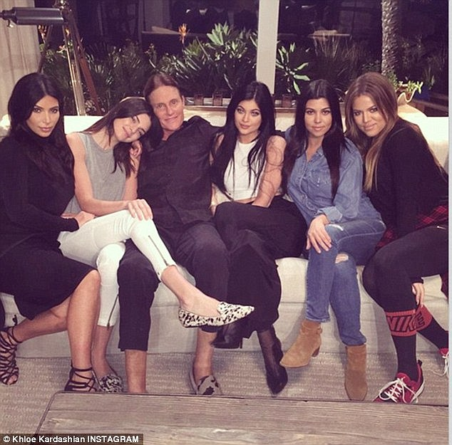 Impact: From left, Kim says sisters Kendall Jenner, Kylie Jenner, Kourtney Kardashian and Khloe Kardashian re going through an 'adjustment period' with patriarch Bruce Jenner