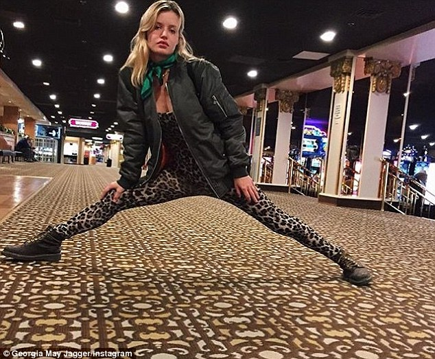 Taking the splits!Donning a leopard print catsuit, the stunning star showed off her impressive level of flexibility last week, taking to Instagram to share a snap of herself attempting the splits
