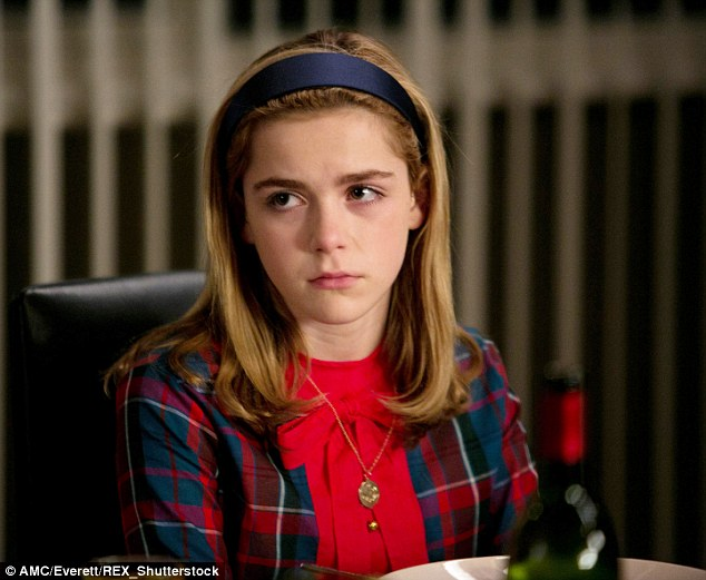 In character: Kiernan is known for playing troubled youngster Sally Draper in Mad Men