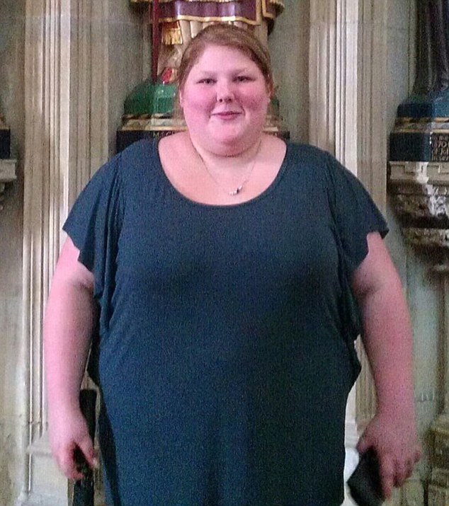 At 18, Rochelle (pictured) weighed 21 stone, had started self-harming and just before Christmas 2010 her mother kicked her out of her house