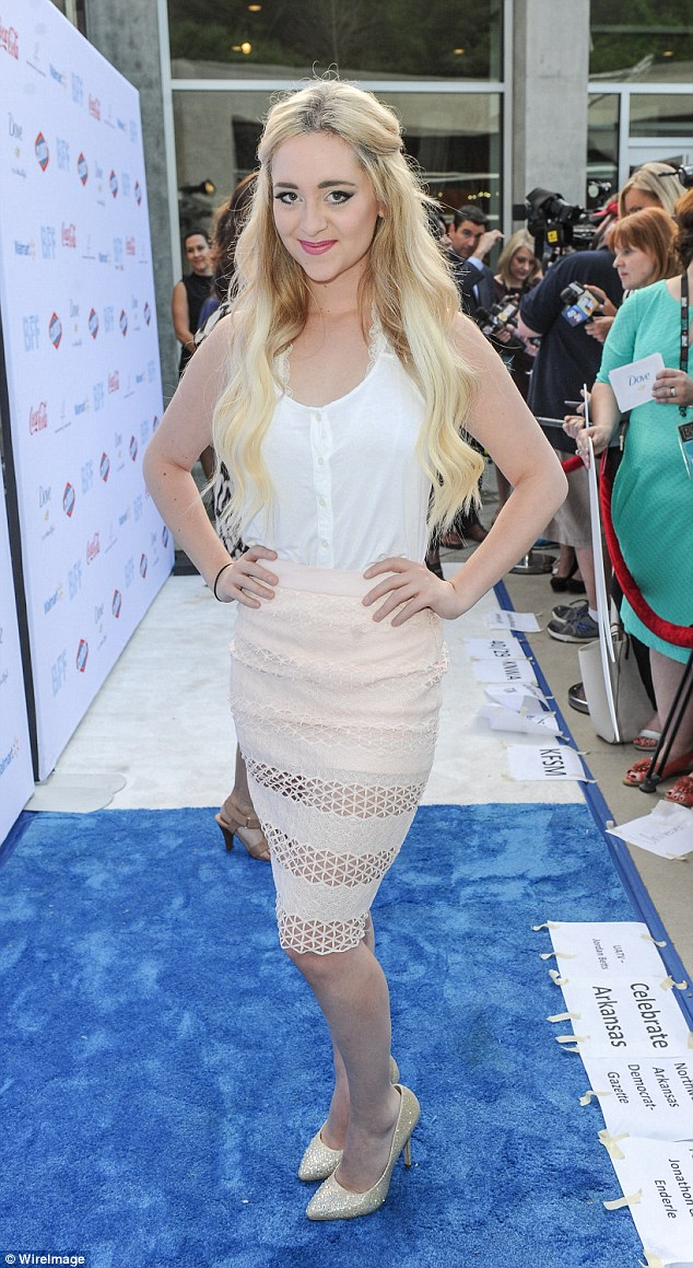 Looking good: Liz Mace, of singing duo Megan and Liz, was also in attendance at the festival
