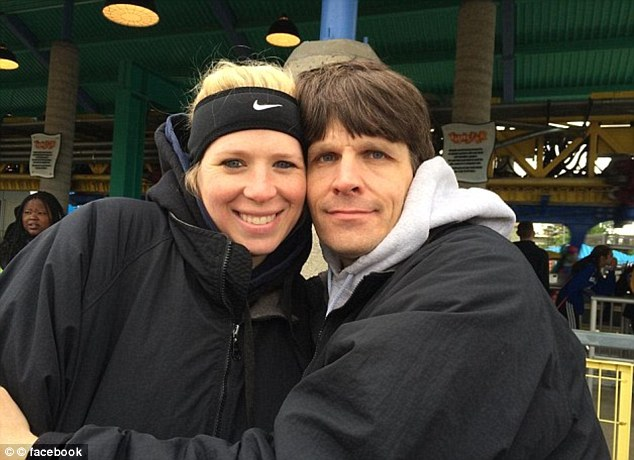 Derek Flemming (right) pictured with his wife, Amy, who witnessed her husband being shot