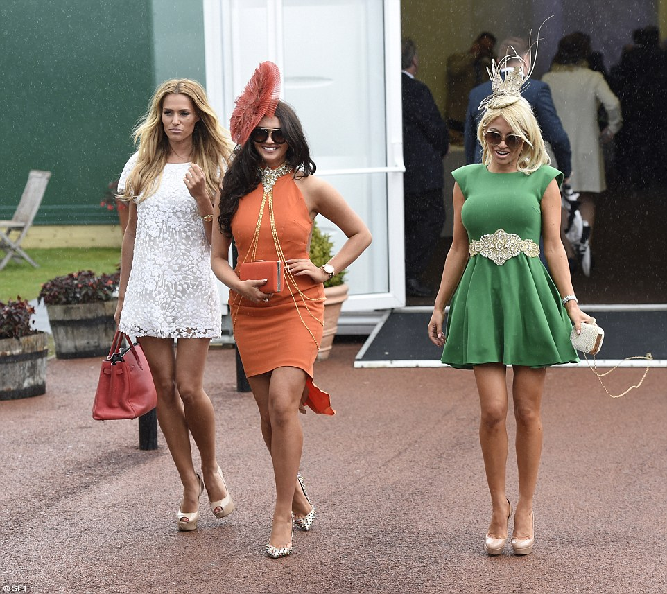 Model Charlotte Dawson and her friends braved the weather with mini dresses and bare legs