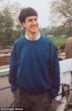 Student: Mr Miliband, pictured at the Corpus Christi boathouse in 1989, is the same now as he was then, friends have said