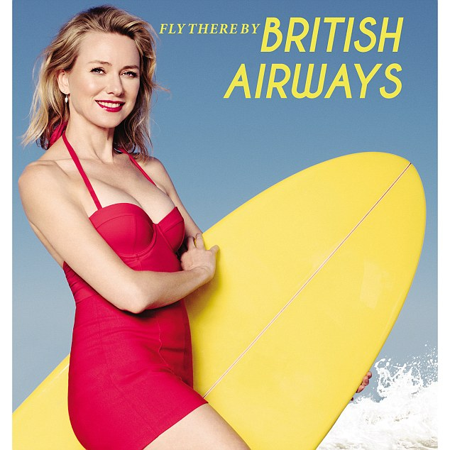 Classic: Naomi recreated a British Airways advertisement to celebrate the airline's 80 years in Australia