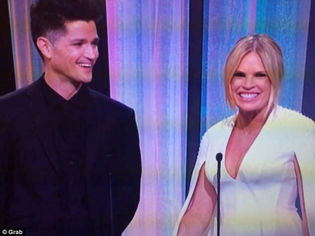 Ready for some dirty martinis! Sonia Kruger told the Logies audience she was preparing for a wild night
