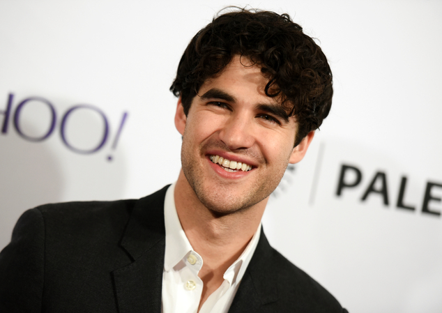 """FILE - In this March 13, 2015 file photo, Darren Criss arrives at the 32nd Annual Paleyfest : """"Glee"""" held at The Dolby Theatre in Los Angeles. Criss is hosti..."""