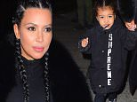 Kim Kardashian and North West were spotted leaving Kanye West's Album Release party in NYC on Tuesday. Mom and daughter walked hand in hand, wearing matching black outfits, and matching braids . Kim protectively guided her cute daughter to the car.\n\nPictured: Kim Kardashian, North West\nRef: SPL1223987  090216  \nPicture by: 247PAPS.TV / Splash News\n\nSplash News and Pictures\nLos Angeles: 310-821-2666\nNew York: 212-619-2666\nLondon: 870-934-2666\nphotodesk@splashnews.com\n