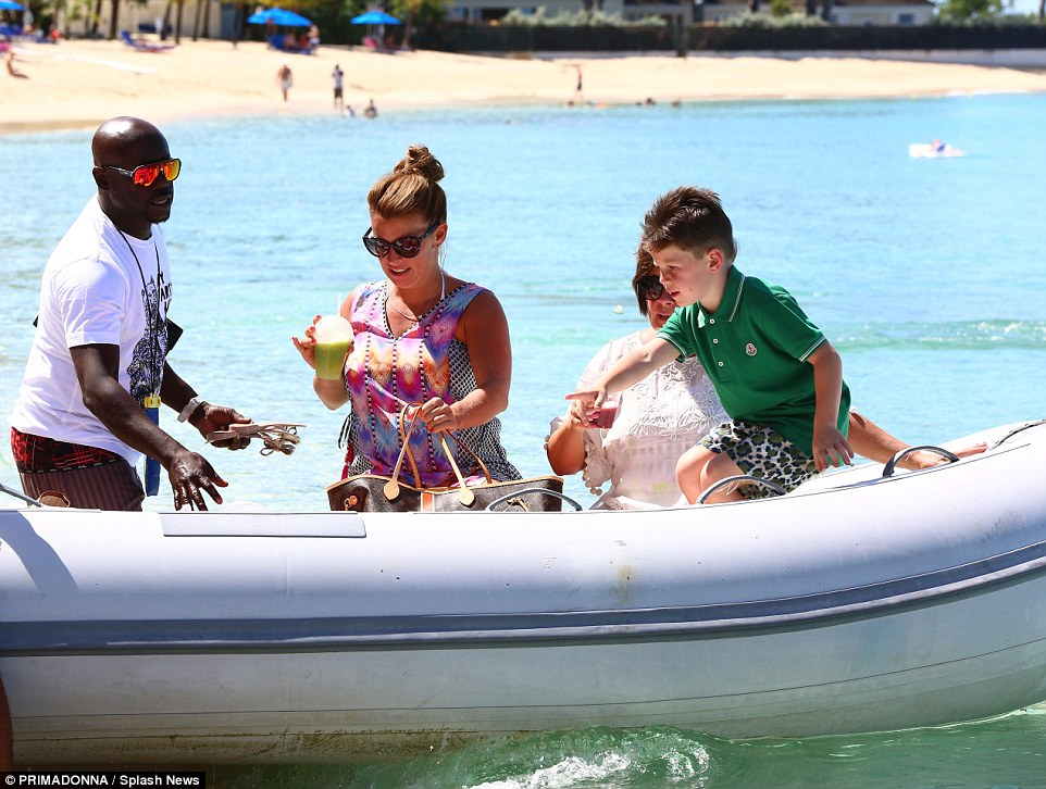 All aboard! Coleen was joined by her mother Colette and her eldest son, five-year-old Kai