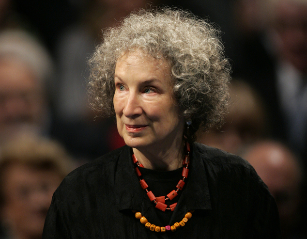FILE - In this Oct. 24, 2008 file photo, Canadian writer Margaret Atwood arrives for the 2008 Prince of Asturias award ceremony in Oviedo, northern Spain. At...