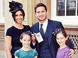 Frank Lampard with partner Christine Bleakley and his daughters Isla and Luna (right) as he holds his Officer of Order of the British Empire (OBE) medal, after it was presented to him by the Duke of Cambridge, at an Investiture ceremony at Buckingham Palace on October 27, 2015 in London, United Kingdom. (John Stillwell - WPA Pool/Getty Images)