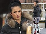 Picture Shows: Chantelle Houghton  February 10, 2016    Chantelle Houghton seen looking back to her best today as she ran errands around Brentwood, Essex. The former 'Big Brother' winner, who has recently faced numerous battles with her weight, looked trim in gym leggings as she went shopping.    She bought a french stick and then seemed to have tyre trouble with her car, taking time to check the surface of the tyre.    Exclusive  WORLDWIDE RIGHTS    Pictures by : FameFlynet UK © 2016  Tel : +44 (0)20 3551 5049  Email : info@fameflynet.uk.com