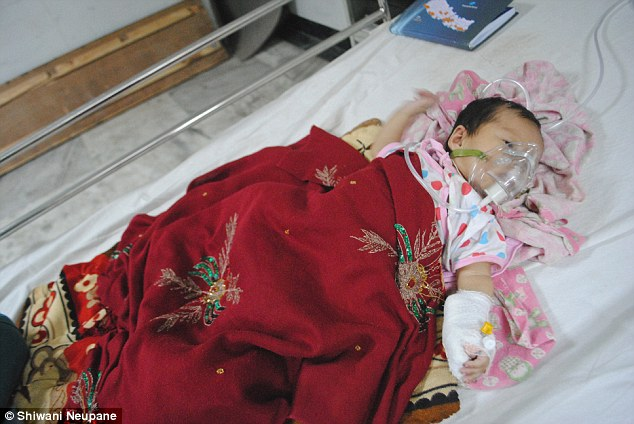 Surgery: Little Radhika Mahey appeared to be fine, but has developed a blood clot and needs an operation