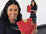 Picture Shows: Karrueche Tran  February 10, 2016\n \n Actress/model Karrueche Tran is all smiles after enjoying lunch at Ebaldi in Beverly Hills, California. Karrueche recently launched a new make up line with ColourPop. \n \n Non-Exclusive\n UK RIGHTS ONLY\n \n Pictures by : FameFlynet UK © 2016\n Tel : +44 (0)20 3551 5049\n Email : info@fameflynet.uk.com