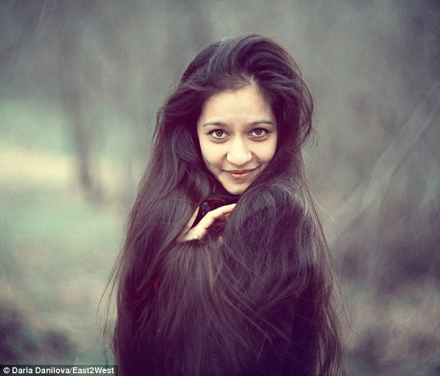 Model Daria Dangilova who is one of thousands of Russian women who have sold their hair