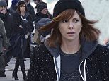 """EXCLUSIVE: Charlize Theron is filming """"The Coldest City"""" in Berlin, Germany. History Demonstration 1989 in EAST BERLIN on Alexanderplatz  Pictured: Charlize Theron Ref: SPL1224499  100216   EXCLUSIVE Picture by: Karadshow / Splash News  Splash News and Pictures Los Angeles: 310-821-2666 New York: 212-619-2666 London: 870-934-2666 photodesk@splashnews.com"""