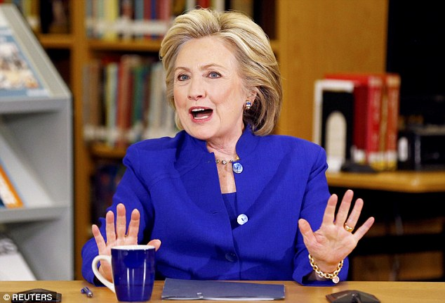 New tune: Hillary Clinton has blamed the 'incarceration generation' for the public's mistrust of police