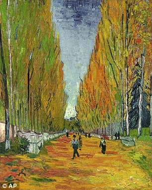 The Allee Of Alyscamps was painted in Arles, southern France, in 1888 - a month before Van Gogh cut off his ear - and has now sold at Sotheby's in New York to an Asian collector for £45.7million