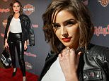 NEW YORK, NEW YORK - FEBRUARY 10:  Olivia Culpo attends the Harley Davidson Black Label Collection Celebration at Harley-Davidson of New York City on February 10, 2016 in New York City.  (Photo by Steven A Henry/WireImage)
