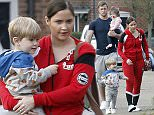 EXCLUSIVE PICTURES\n\n**MINIMUM ONLINE/WEB USAGE FEE £150 FOR THE SET**\n\nEastenders actress Jacqueline Jossa and Boyfriend Dan Osborne looking miserable as they arrive home with the kids.\n\nJacqueline seems to be going for the racing driver look with a motor racing type track suit.\n\n**MINIMUM ONLINE/WEB USAGE FEE £150 FOR THE SET**
