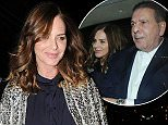 11 Feb 2016 - LONDON - UK  CHARLES SAATCHI AND GIRLFRIEND TRINNY WOODALL SEEN LEAVING SCOTTS RESTUARANT  BYLINE MUST READ : XPOSUREPHOTOS.COM  ***UK CLIENTS - PICTURES CONTAINING CHILDREN PLEASE PIXELATE FACE PRIOR TO PUBLICATION ***  **UK CLIENTS MUST CALL PRIOR TO TV OR ONLINE USAGE PLEASE TELEPHONE   44 208 344 2007 **