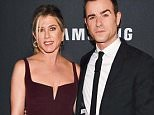 """NEW YORK, NY - FEBRUARY 09: Actors Jennifer Aniston (L) and Justin Theroux attend the """"Zoolander 2"""" World Premiere at Alice Tully Hall on February 9, 2016 in New York City.   Dimitrios Kambouris/Getty Images/AFP == FOR NEWSPAPERS, INTERNET, TELCOS & TELEVISION USE ONLY =="""