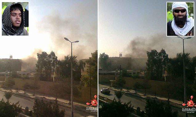 Anti-ISIS activists in Syria post photos showing moment RAF killed two British jihadis