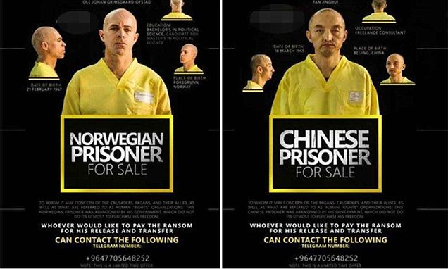 ISIS release ransom posters for Norwegian and Chinese captives