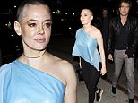 Actress Rose McGowan with her new shaved head looks steps out with a mystery guy at 'The Nice Guy' bar in West Hollywood, CA\n\nPictured: Rose McGowan\nRef: SPL1224904  110216  \nPicture by: SPW / Splash News\n\nSplash News and Pictures\nLos Angeles: 310-821-2666\nNew York: 212-619-2666\nLondon: 870-934-2666\nphotodesk@splashnews.com\n