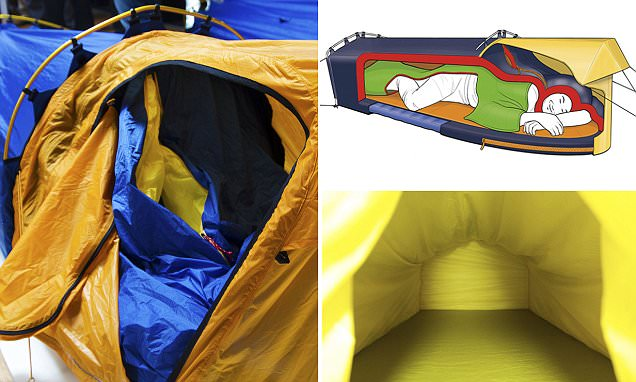 Polarmond tent combines insulated shelter with a sleeping bag and mat
